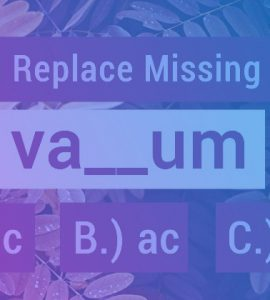 replace missing letters quiz